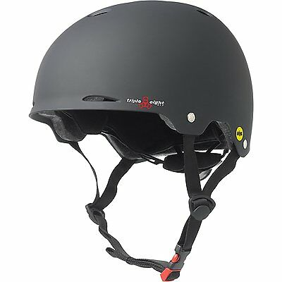 Triple Eight Gotham Helmet with MIPS, Black Rubber, Small/Medium