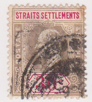 (MS-6) 1802 Straits settlements 30c brown/grey & red Edward