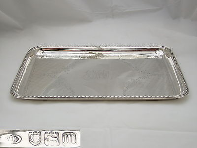Rare Edwardian Hm Sterling Silver Dressing Table Tray 1907