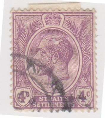 (MS-31) 1919 Straits settlements 4c purple KGV (A)
