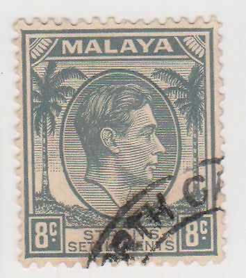 (MS-75) 1937 Malaya 8c grey KGV (B)