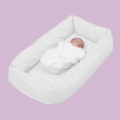 Tetra Original Snuggle Bed with Cover - No need for a Bassinet or Cradle - Mauve