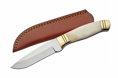 SZCO Supplies Bone Handle Sleek Skinning Knife