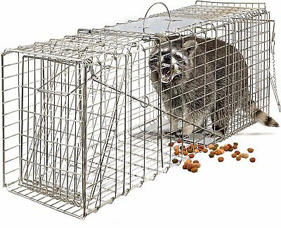 """OxGord Live Animal Trap 32"""" X 12"""" X 12"""" Catch Release Humane Rodent Cage for..."""