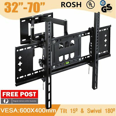 TV Wall Mount Bracket Full Motion Tilt Swivel Pivot 32 40 43 50 55 60 65 70 Inch