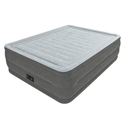 """Intex Comfort Plush Elevated Dura-Beam Airbed, Bed Height 22"""", Queen"""