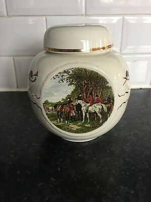 Hunting Scenes Tea Caddy 1795-1865 By John F. Herring Made For R.Twining & Co