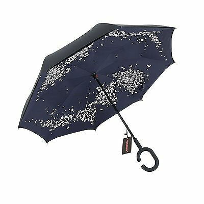 WASING Double Layer Inverted Umbrella Cars Reverse Umbrella, Windproof UV...