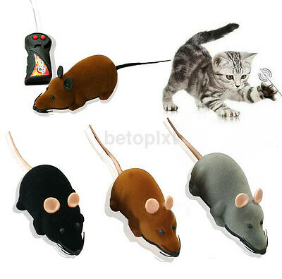 HOT Simulation Remote Control RC Rat Mouse Mice Toy Novelty Gift For Cat Pet