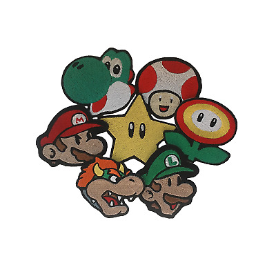 Super Mario Patch Embroidered Iron On Patches Fancy Jacket Badge Jeans Applique