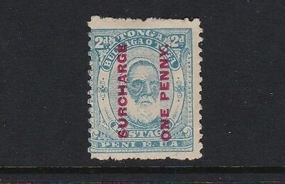 Tonga SG25 1d on 2d pale blue - mounted mint £50