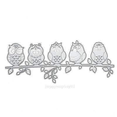 Owl Metal Cutting Dies Stencil Scrapbooking Album Paper Card Embossing Craft New