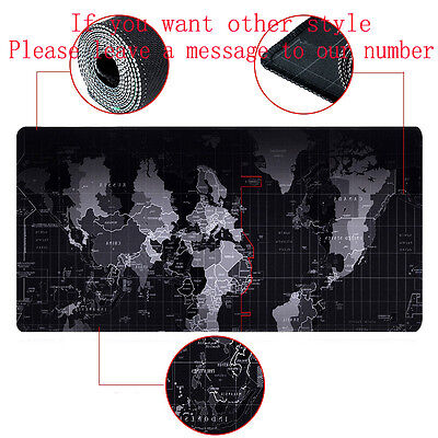 Giant 90*40cm Laptop Gaming Computer Mousepad World Map Game Mouse Pad Mat Hot