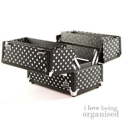 Professional  BueticianCosmetic Makeup Train Case w/ Four Folding Organiser Tray