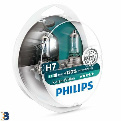 Philips Xtreme Vision 2x H7 Headlamps 12972XV+S2 +130 NEW Hard Case