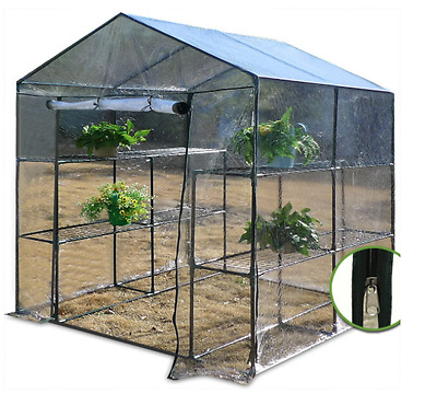 NEW Foil Greenhouse Garden Hothouse Polytunnel Shelving Units Tomatoes Growing