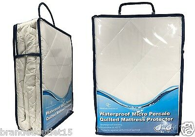 Micro Quilted Waterproof Mattress Protectors Single Double King Superking 4ft