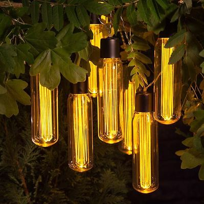Outdoor Vintage Valve Light Bulb Light String of 10  Battery Operated