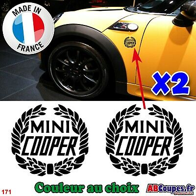 2 Stickers pour ailes Mini Cooper - Autocollants Cooper S - 171