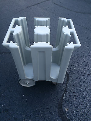 """Cambro DC825 Poker Chip 8 1/4"""" Plate Dish Caddy Dolly Mobile Cart, Catering"""