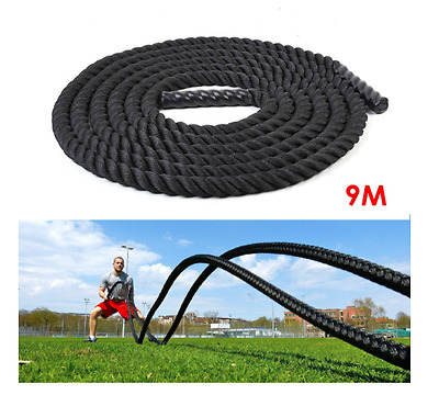 NEW 9m Training Gym Ropes Cross Fit Equipment Cardio Bicep Training Weightloss