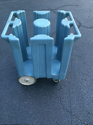 "Cambro DC950  9 1/2"" Poker Chip  Plate Dish Caddy Dolly Mobile Cart, Catering"
