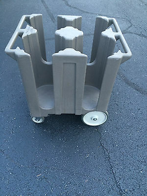 "Cambro DC1225 Poker Chip 12 1/4"" Plate Dish Caddy Dolly Mobile Cart, Catering"