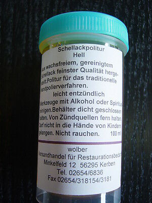 Politur-Schellackpolitur-Ballenmattierung super blond 8940 hell - in 100 ml