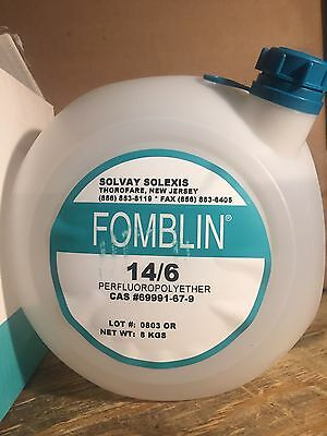 Fomblin 14/6 vacuum pump oil 8 Kg container