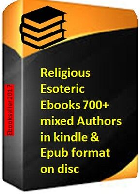 ebooks, Religious Esoteric 700 + mixed Authors in kindle & Epub formats on disc