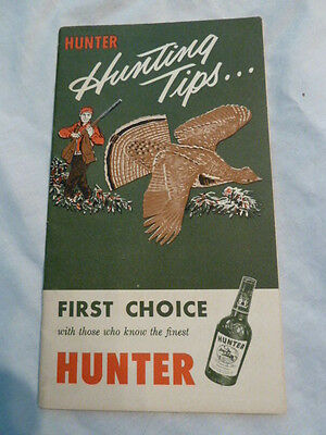 Rare Vintage Hunter Whiskey Hunting Guide Book Advertiser Louisville Kentucky