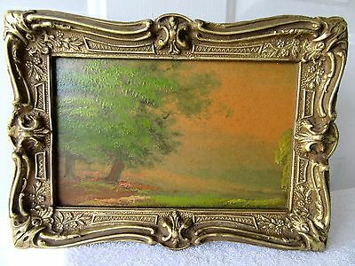 Antique Victorian Impressionist Oil Painting Ornate Fits 8.5X5.5 Picture Frame