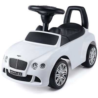 Kids Bentley GT Ride On Car Toddler Balance Push Along Walker Toy With Sounds