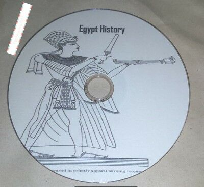 History ebooks, of Egypt 49 rare ebooks, on disc in pdf and kindle format for PC
