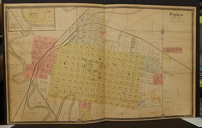 Kansas  Miami County Map Paola Double Page 1901    Y9#71