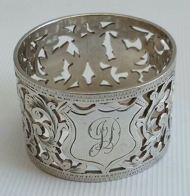 Vtg 1922 Heavy Sterling Solid Silver Rolason Bros Napkin Serviette Ring 34.72g