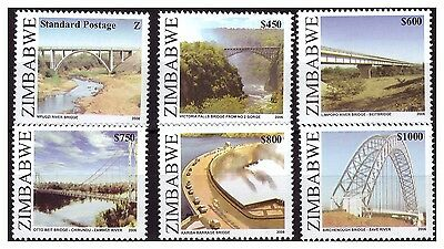 Zimbabwe 2006 Bridges Of Zimbabwe Sg1196 To 1201- Set Of Singles