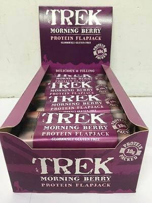 Trek Bars Protein Flapjack - Morning Berry 50g - Full Box 16 Bars