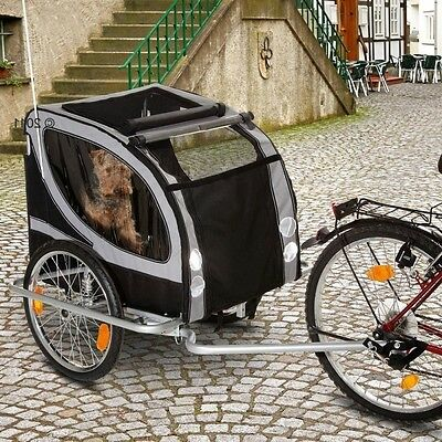 Large Dog Bike Trailer Wagon Jogger Carrier Bicycle Travel Transport Ride Pets