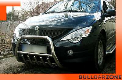 Ssangyong Actyon Sports Tubo Protezione Medium Bull Bar Inox Stainless Steel
