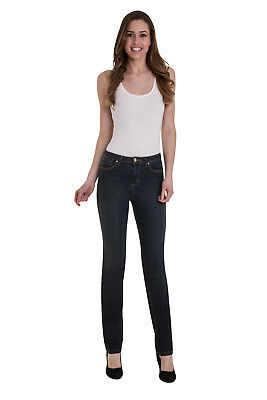 Ex M&S Ladies Per Una Roma Rise Straight Leg Stretch Denim Jeans Marks Spencer