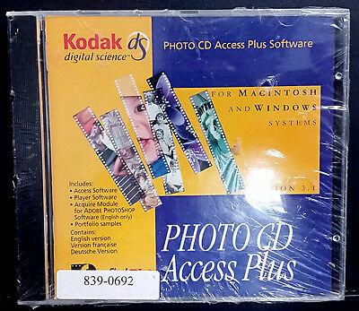 NEW sealed Kodak Photo CD Access Plus Computer Software 8390692 for Windows/Mac