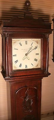 "Antique  Carved Oak "" Cornwall""  Longcase / Grandfather Clock"