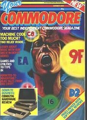 ebooks Your Commodore C64, 84 Magazines in PDF Format for PC/Laptop on a 2 discs