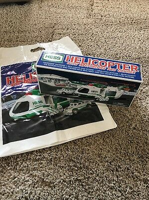 Hess Helicopter With Motorcycle And Cruiser New In Box 2001 With Bag