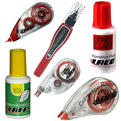 LACO Correction Roller Tape Fluid Pen Office Writing Removal Corrector