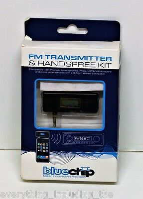Bluechip FM transmitter & hands free For Ipod Iphone & Ipad With In Car Charger