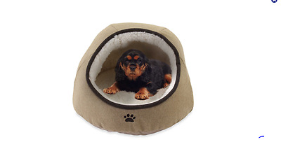 Embroidered Dome Pet Dog/Cat Bed Soft Warm Cushion Mat-House puppy Cozy Kennel