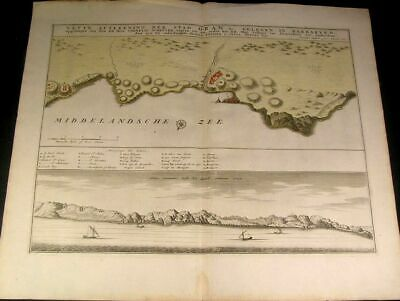 Oran Algeria Coast Mediterranean Sea North Africa 1732 Ottens fine antique map
