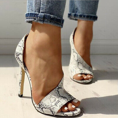 Fashion Women High Thick Heels Shoes Pointed Strappy Pumps Chunky Party Sandals
